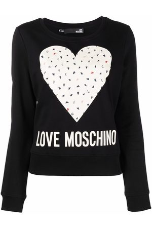 Love Moschino Heart-print long-sleeved sweater