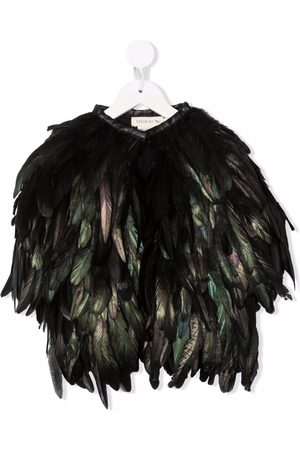 Le pandorine Girls Coats - Feather mid-length coat