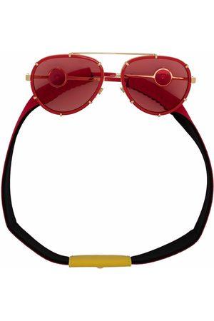 VERSACE Aviator-frame two-tone sunglasses