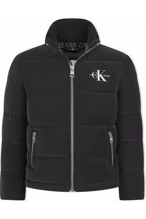 Calvin Klein Puffer Jackets - Logo-print padded jacket