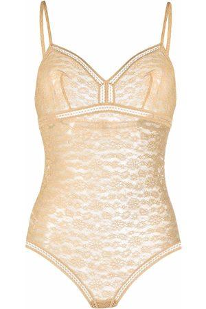 ERES Women Lingerie Bodies - Herbier lace bodysuit - Neutrals