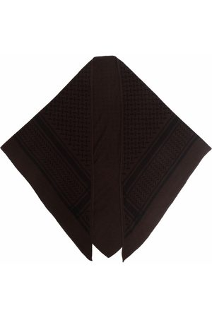 LALA BERLIN Patterned cashmere neck scarf
