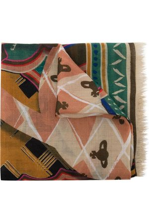 Vivienne Westwood Women Scarves - Abstract-pattern wool scarf - Multicolour