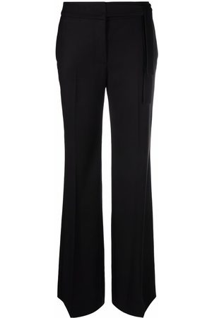 ..,MERCI Tied-waist flared trousers