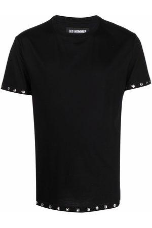 Les Hommes Eyelet-trim short-sleeved T-shirt