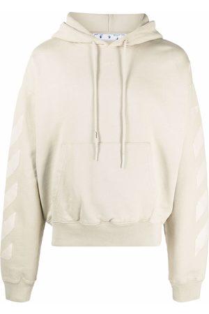 OFF-WHITE Men Hoodies - Rubber arrow hoodie - Neutrals