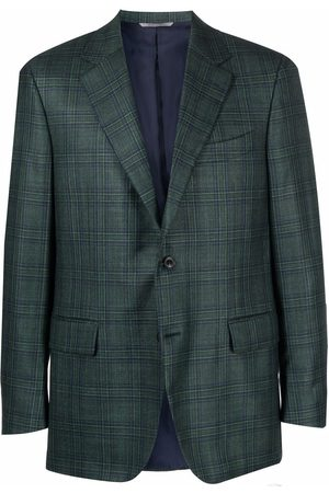 CANALI Plaid-check button blazer