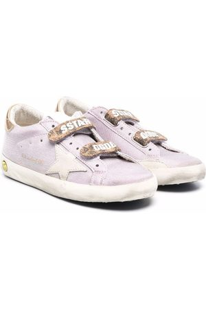 Golden Goose Girls School Shoes - Old School touch-strap sneakers