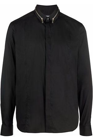 Les Hommes Men Long sleeves - Zip-detail long-sleeved shirt