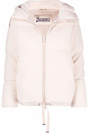 HERNO Fleece-texture down-filled padded jacket - Neutrals
