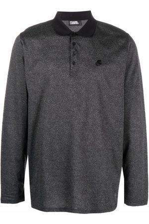Karl Lagerfeld Men Polo Shirts - Embroidered-logo polo shirt