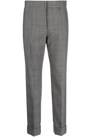 Givenchy Women Formal Pants - Checked tailored trousers - Grey
