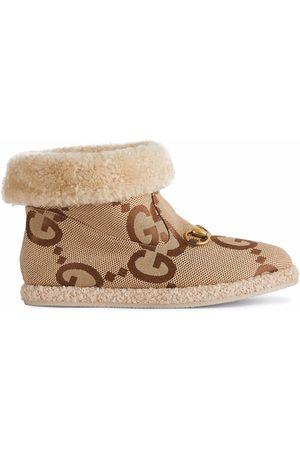 Gucci Horsebit merino ankle boots - Neutrals