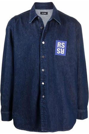 RAF SIMONS Logo patch denim shirt