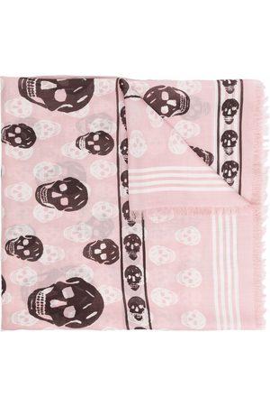 Alexander McQueen Skull-print modal scarf