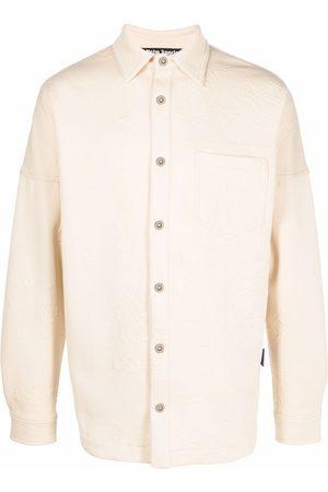 Palm Angels Bandana-embossed long-sleeve over shirt - Neutrals