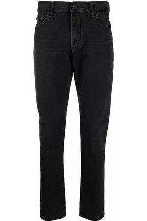 OFF-WHITE Low-rise slim-legged jeans
