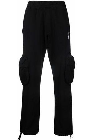 OFF-WHITE Men Cargo Pants - Logo-print cargo trousers