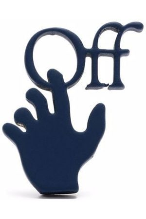 OFF-WHITE Men Earrings - Hands Off logo single earring