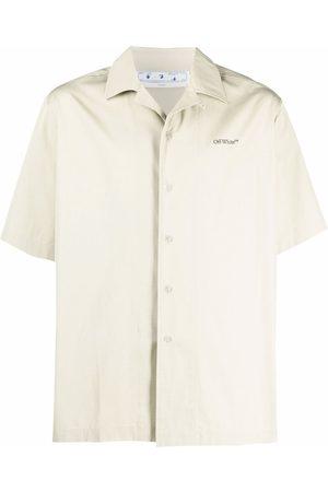 OFF-WHITE Men Short sleeves - Paint print short-sleeved shirt - Neutrals