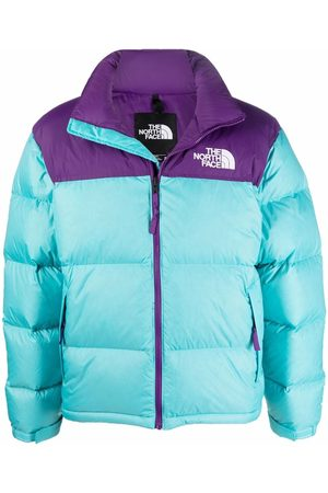 The North Face Men Puffer Jackets - Colour-block panelled puffer jacket