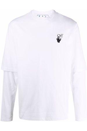 OFF-WHITE Men Long Sleeve - Degradé Arrows logo-print layered T-shirt