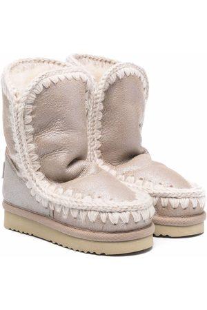 Mou Whipstitch-detail boots - Neutrals