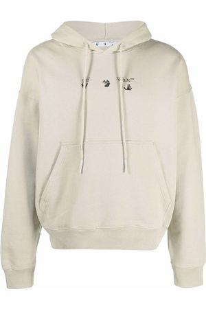 OFF-WHITE Hands Off logo drawstring hoodie - Neutrals