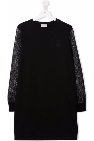 Moncler Girls Casual Dresses - Panelled knitted jumper dress