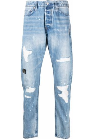 Evisu Men Slim - Slim-fit ripped jeans