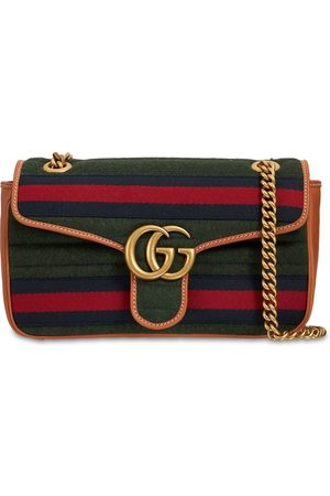 Gucci Small Gg Marmont Wool Shoulder Bag