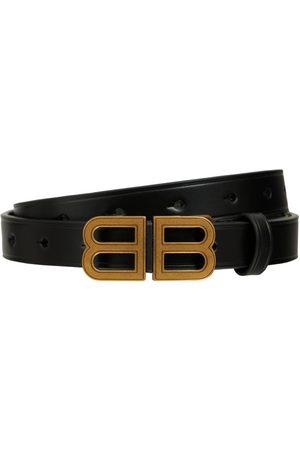 Balenciaga Bb Houlglass Croc Embossed Leather Belt