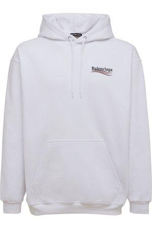 Balenciaga Men Hoodies - Political Logo Cotton Sweatshirt Hoodie