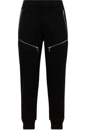 Neil Barrett Skinny Low Rise Viscose Biker Sweatpants