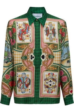 Casablanca Printed Silk Twill Shirt