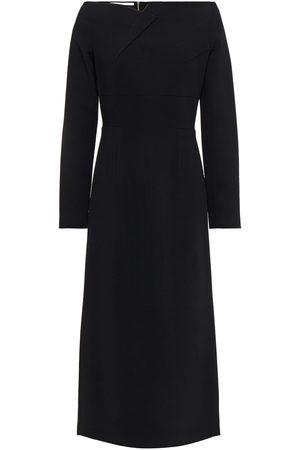 Roland Mouret Women Strapless Dresses - Woman Romolo Off-the-shoulder Stretch-crepe Midi Dress Size 6