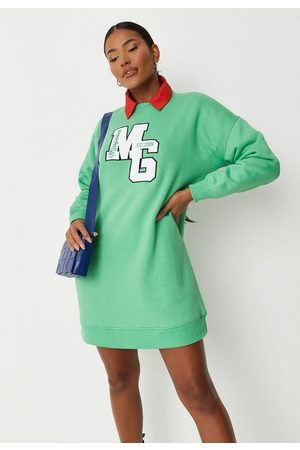 Missguided Mg Applique Oversized Sweater Dress