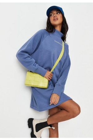 Missguided Rib Funnel Neck Sweater Dress