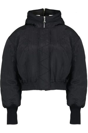 Marine Serre Cropped moire puffer jacket