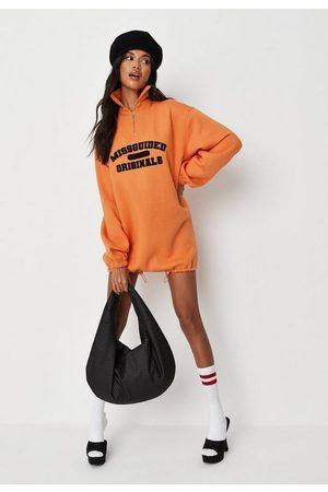 Missguided Originals Half Zip Sweater Dress