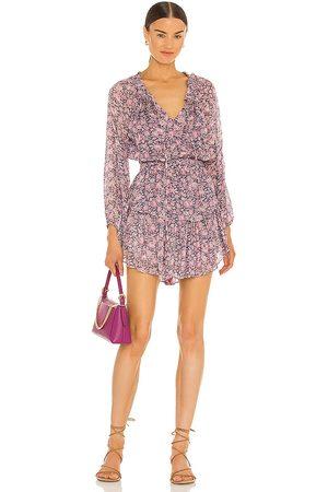 LOVESHACKFANCY Popover Dress in Purple.
