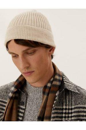 Marks & Spencer Men Beanies - Rib Knit Beanie Hat