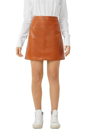 French Connection Crolenda Faux Leather Mini Skirt
