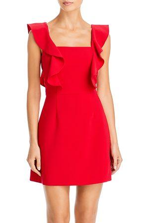 French Connection Whisper Sleeveless Ruffled Mini Dress