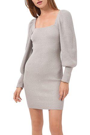 1. STATE Square Neck Sparkle Sweater Dress