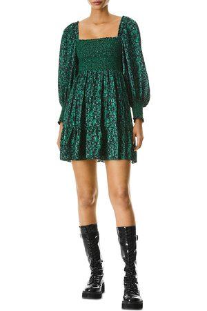 ALICE+OLIVIA Rowen Smocked Mini Dress