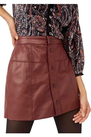 Free People Maisie Faux Leather Mini Skirt