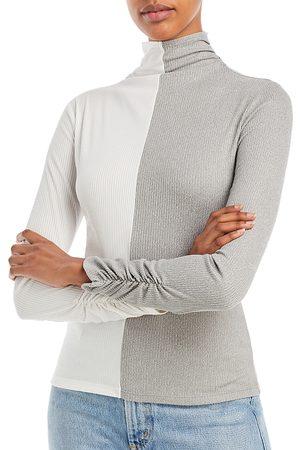 Aqua Women High Necks - Color Block Knit Turtleneck Top - 100% Exclusive