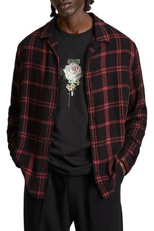 AllSaints Arline Plaid Flannel Button Down Shirt