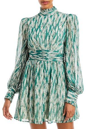 Aqua Printed Mock Neck Mini Dress - 100% Exclusive